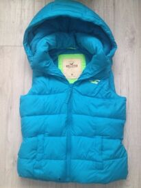 Women's Hollister Gilet Body Warmer Blue Size M
