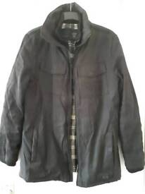 Firetrap mens black coat size M