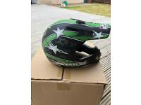 IXS boys motorcycle helmet and gloves