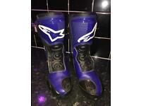 Nearly new alpinestars motorbike boots