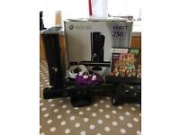 X box 360 250gb with accessories & 8 games!