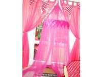 CERCISE PINK OVER THE BED CANOPY