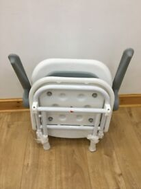 AKW Advanced Wall Mounted Shower Seat with Back and Arms - Grey Padded 04230P