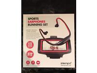 Sports earphones running set