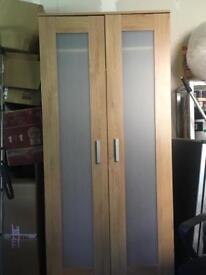 Wooden wardrobe- 80cm wide, 180cm tall