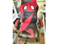 Red and black leather chair