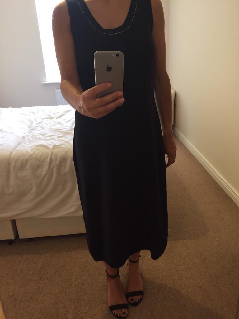 Cashmere blend quality navy dress