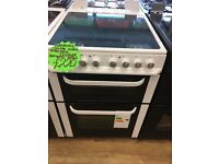 SERVIS 60CM WIDE CEROMIC TOP ELECTRIC COOKER IN WHITE
