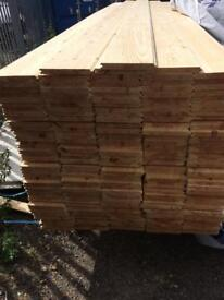 """New ANTIQUE timber t&g flooring 8"""" x 14 ft"""