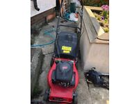 Petrol strimmers £40 to £50 petrol lawnmowers £40 to £60