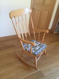 Wooden rocking chair SOLD