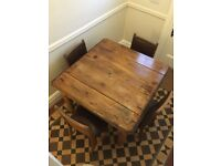 Victorian dining table and 4 chairs for sale