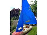 'TINKER Traveller' class, Inflatable Sailing Boat with Optional 'Yamaha' Outboard Motor.