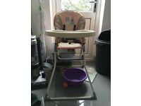Free highchair maxi cosi car seat and changing table with mat