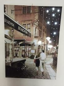 Wall hanging picture with lights in