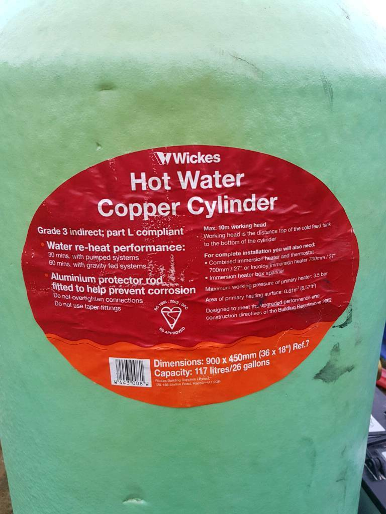 Direct copper cylinder hot water tank | in Rattray, Perth and ...