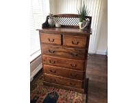 Huge solid wood chest of drawers NOW SOLD
