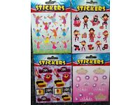 Kids Stickers Pirate / Princess / Pink Pirate / Fairies - 4 Sheets for £ 1.00 mix & match available