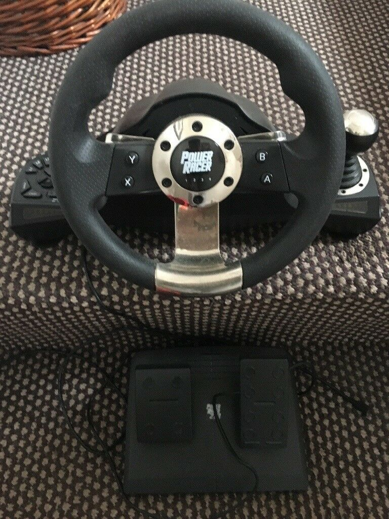 Car wheel and pedals gaming chair