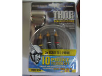 BRAND NEW THOR 3 Meter Scart to 3 Phono Cable/Lead