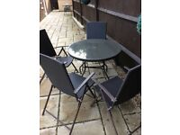 Garden table and 4 chairs dark brown rattan vvvgc no offers collect Maidenhead