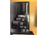 Panasonic KX-TG6824 Quad Handset and Answering Machine
