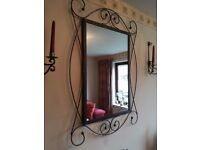 Mirror and candel holders
