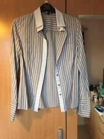 Ladies grey striped shirt