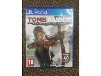 Ps4 Tomb Raider game