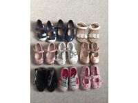 Bundle of girls shoes infant size 6 mainly Next