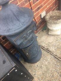Cast iron letter box