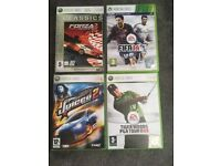 4 Xbox360 games with original boxes