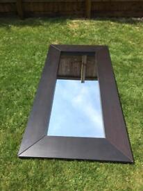 Large wooden framed mirror