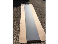 Grey slate splash back 4.1 m long wren kitchen