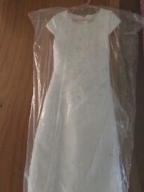Girls Bridesmaid first communion dress with gloves and veil