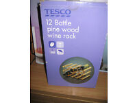 Wooden wine rack never been used