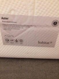 Habitat memory foam mattress - hardly used