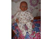 ZAPF CREATION BABY ANNABELL DOLL NOT WORKING BUT LOVELY AS IT IS VGC