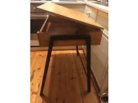 Industrial style flip up school desk, computer table
