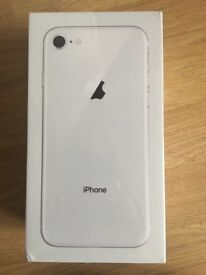 iPhone 8 silver 64GB SEALED BRAND NEW