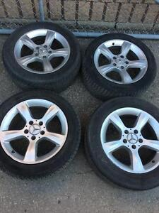 Mercedes Benz 215-55-16 Rims/Tires 85%tread ON TIRES  MINT CONDITION