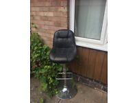Black leather kitchen bar stool - FREE