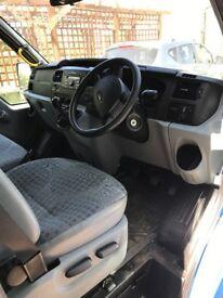 Blue Ford Transit 17 seater Mini Bus - Low mileage long MOT