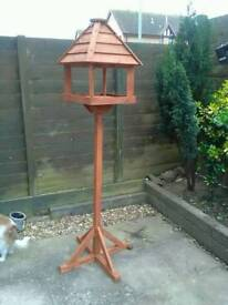 Bird table with a stand