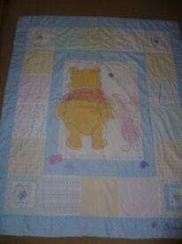 Disney Winnie the Pooh cot coverlet