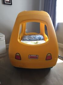Kids car bed excellent condition, mattress included
