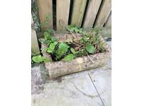 2 garden stone plant holders