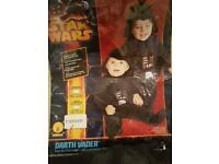 Star Wars Darth Vader and toddler dressing up outfit. Worn once.
