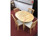 Banbury extendable dining table and 4 chairs - solid wood.
