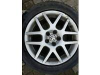 MK4 GOLF BBS MONTREAL 2 ALLOY WHEELS AND TYRES